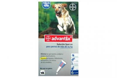 ADVANTIX 4 PIPETAS X 4,0 ML para perros >25KG